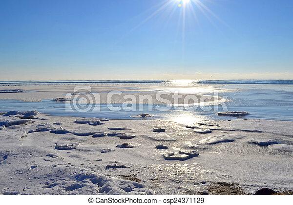 Marine winter landscape - csp24371129