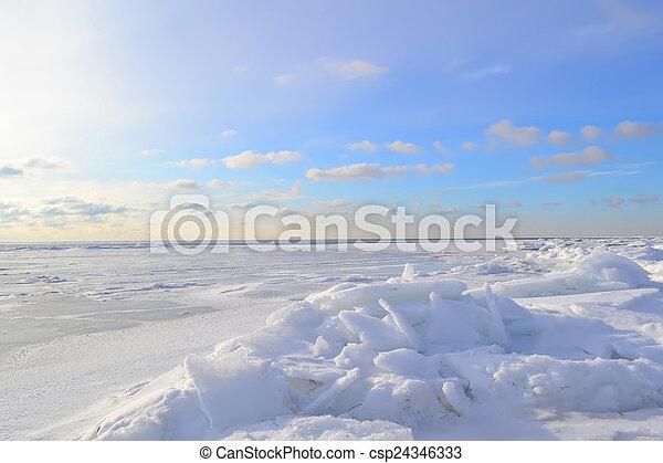 Marine winter landscape - csp24346333