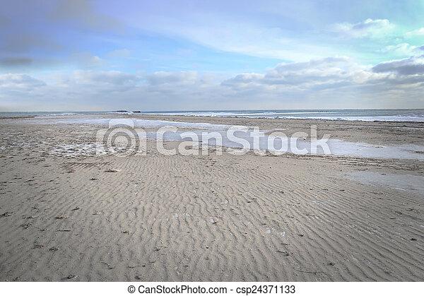 Marine winter landscape - csp24371133