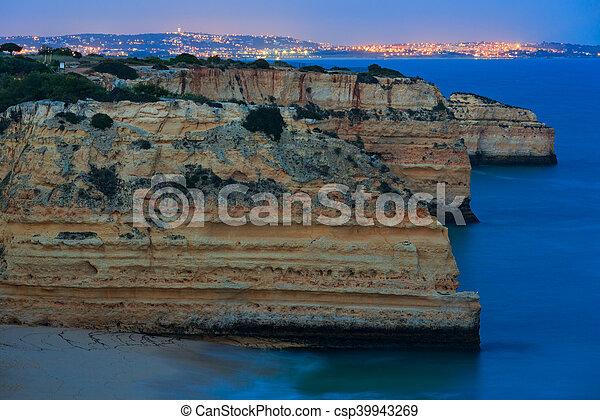 Marinha Beach near Lagoa, in Algarve, Portugal. - csp39943269
