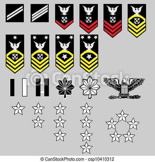 marinha, insignia, nós, grau - csp10410312
