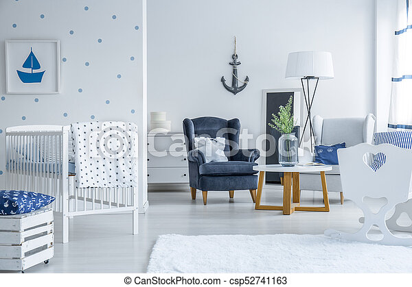 Marinistic style baby room - csp52741163