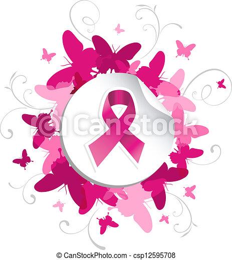 La conciencia del cáncer de mama Mariposa - csp12595708