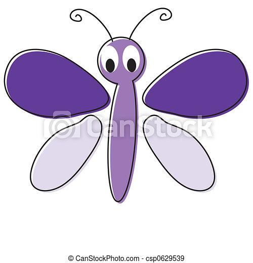 Mariposa de cartón - csp0629539