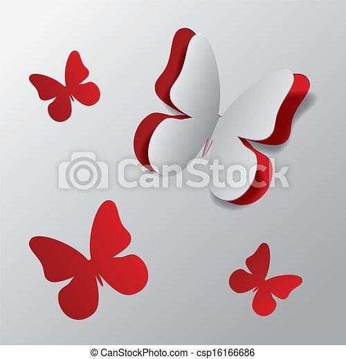 Cortar mariposa de papel - csp16166686