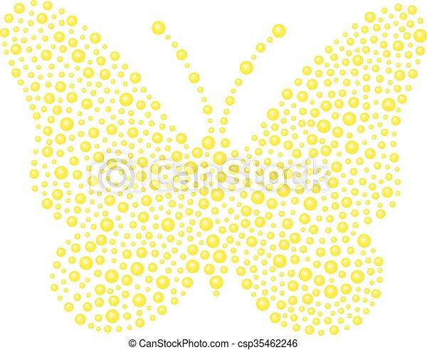 Mariposa en diseño amarillo - csp35462246