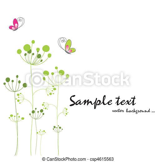 mariposa, flora, primavera, colorido - csp4615563