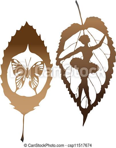Un permiso con mariposas hechas en EP - csp11517674