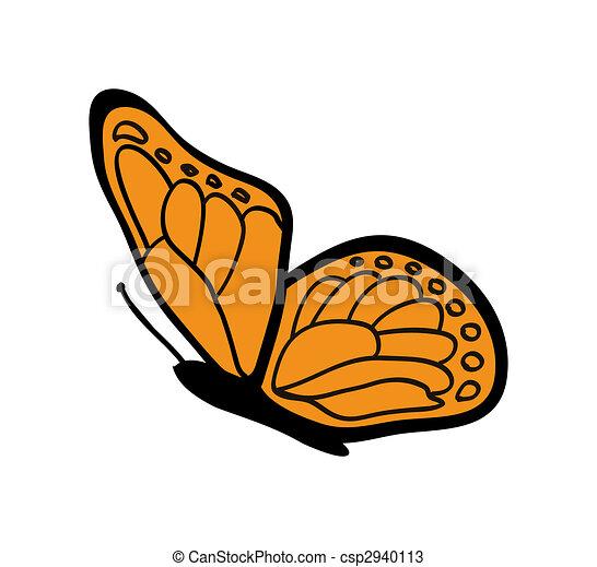 Dibujos de mariposa monarca  agradable ilustracin de naranja
