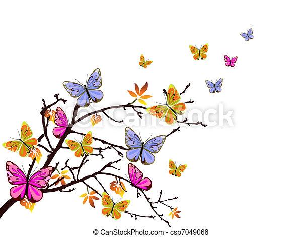 La rama de las mariposas - csp7049068