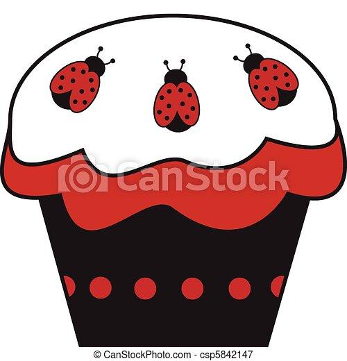mariquita, cupcake - csp5842147