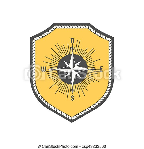 Maritime heraldic emblem - csp43233560