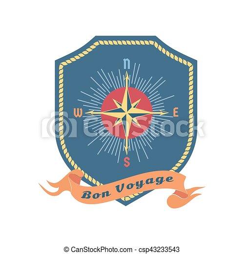 Maritime heraldic emblem - csp43233543