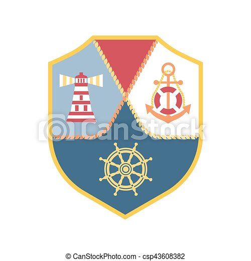 Maritime heraldic emblem - csp43608382