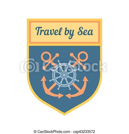 Maritime heraldic emblem - csp43233572