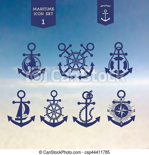 Maritime icons set - csp44411785