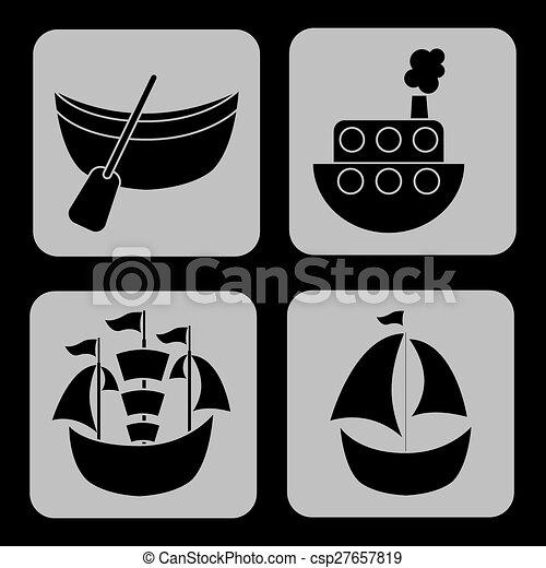 maritime icons - csp27657819