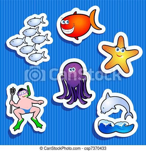 maritime stickers - csp7370433