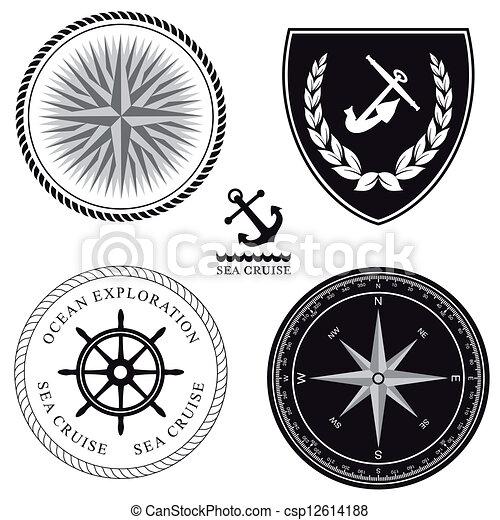 Maritime symbols - csp12614188