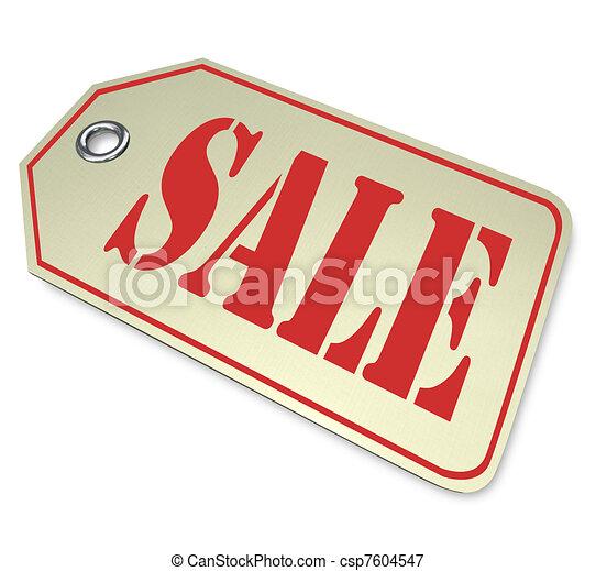 markdown, illustrer, mot, coût, ou, détaillant, réduit, escompte, vente, étiquette, marchandise, ligne, limited-time, pendant, dégagement, événement, magasin - csp7604547