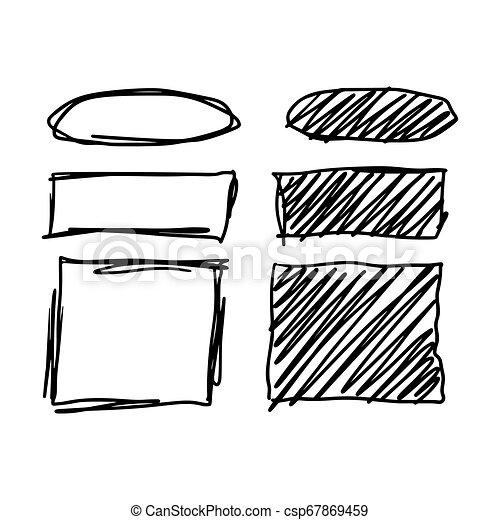 Marker style set hand drawn - csp67869459