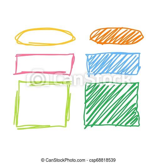 Marker style set hand drawn - csp68818539