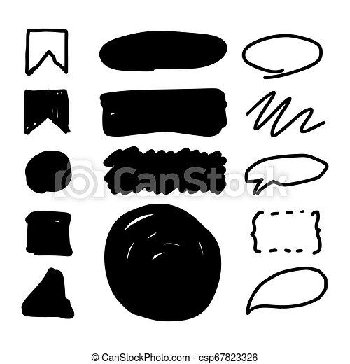 Marker style set hand drawn - csp67823326
