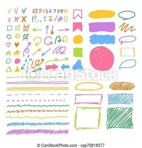 Marker style set hand drawn - csp70818377