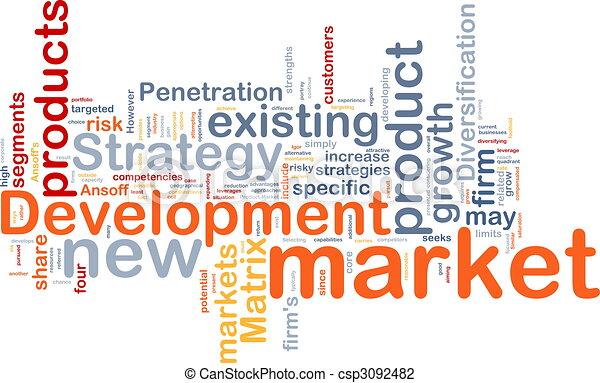 Market development background concept - csp3092482
