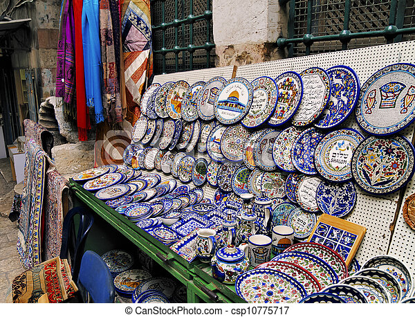 Market in Jerusalem, Israel - csp10775717