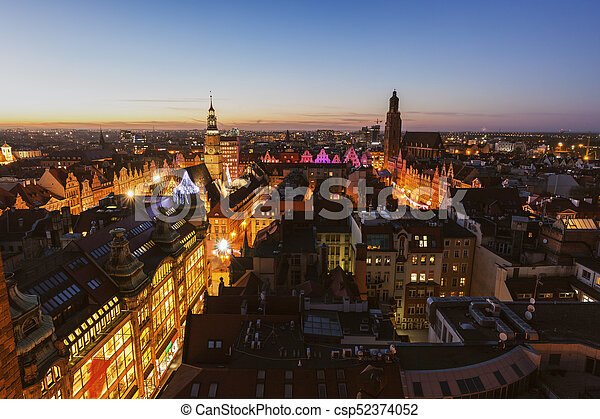 Market Square in Wroclaw - csp52374052