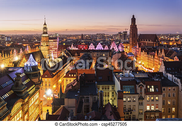 Market Square in Wroclaw - csp45277505