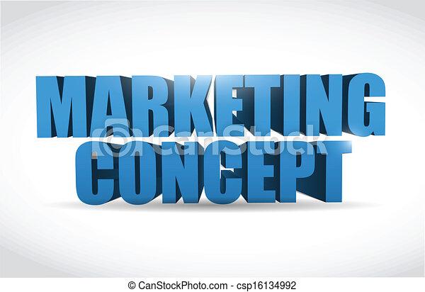 marketing 3d text illustration design - csp16134992