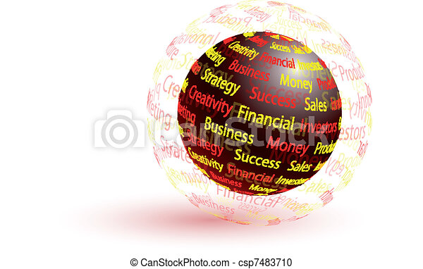 Marketing abstract globe - csp7483710