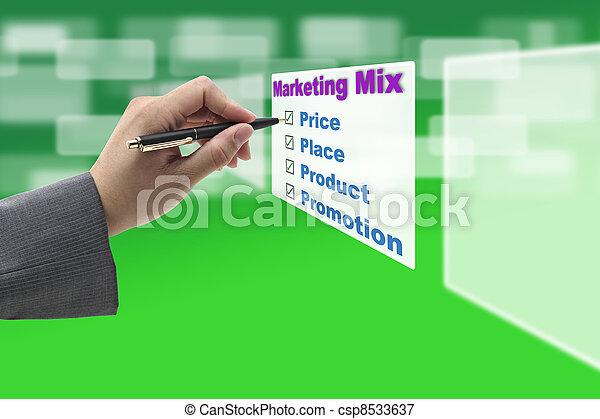 Business Marketing Mix Konzept - csp8533637