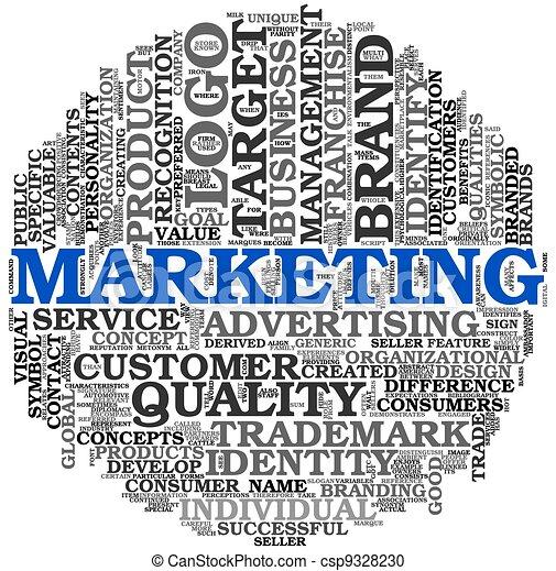 Marketing Konzept in Word Tag Wolke - csp9328230