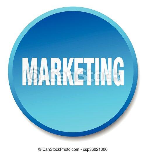 marketing blue round flat isolated push button - csp36021006
