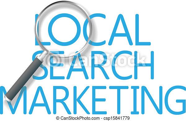 marketing, busca, local, ferramenta, achar - csp15841779