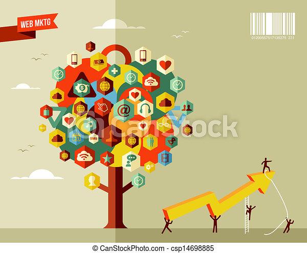 Marketing business tree - csp14698885