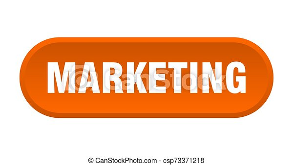 marketing button. marketing rounded orange sign. marketing - csp73371218