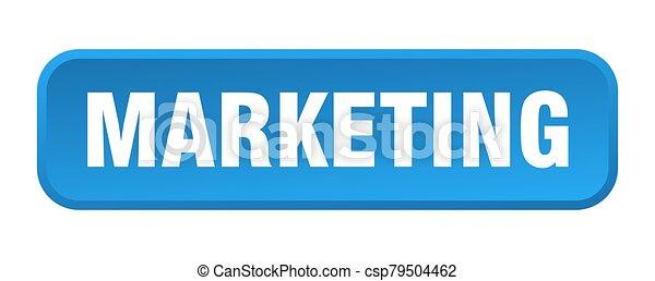 marketing button. marketing square 3d push button - csp79504462