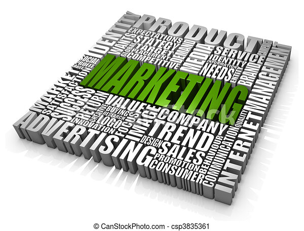 Group of marketing related words. part of a series of ...