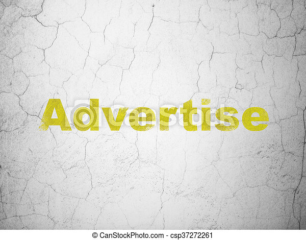Marketing concept: Advertise on wall background - csp37272261