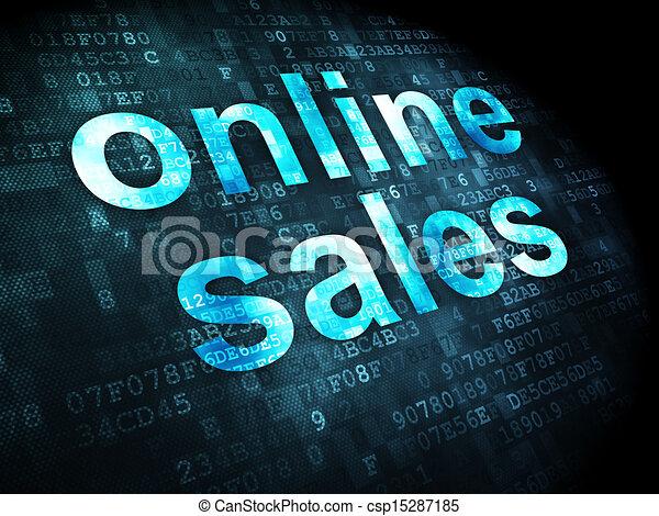 marketing concept online sales on digital background marketing