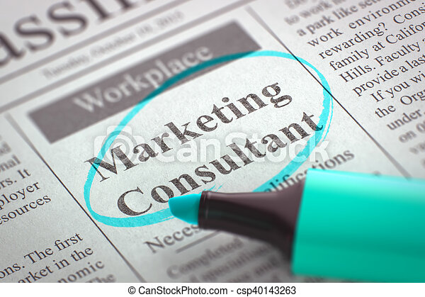Marketing Consultant Job Vacancy D Render Marketing  Stock