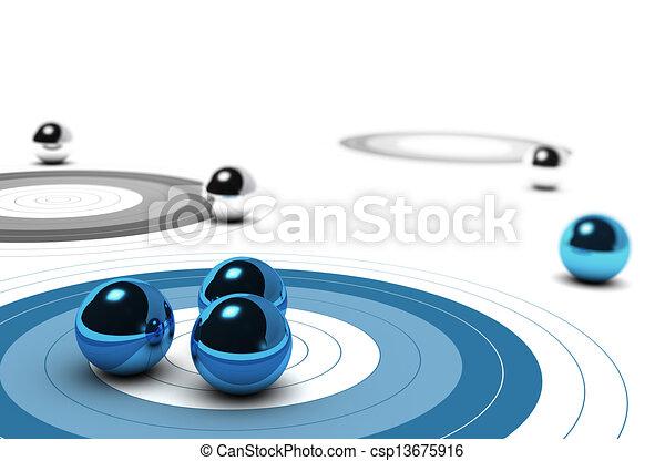 Marketing Core Target Concept - csp13675916