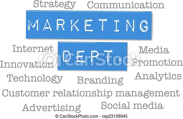 Marketing Department business ad words - csp23108945