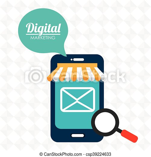 marketing digital smartphone store vector illustration vectors rh canstockphoto ca marketing plan clipart marketing clip art images