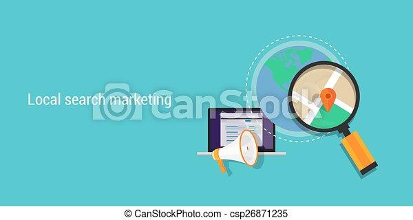 Lokales Suchmarketing - csp26871235