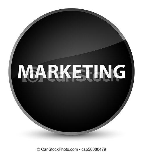 Marketing elegant black round button - csp50080479